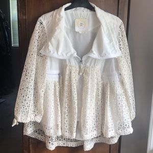 Anthropologie HEI HEI lace jacket. Size Small.